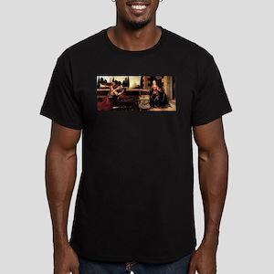 Da Vinci's Annunciation Men's Fitted T-Shirt (dark