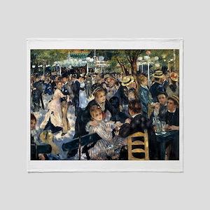 Renoir's Dance at Le moulin d Throw Blanket