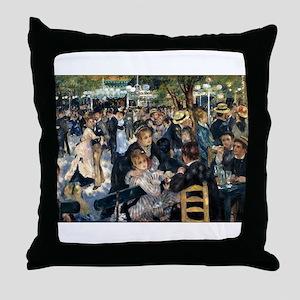 Renoir's Dance at Le moulin d Throw Pillow