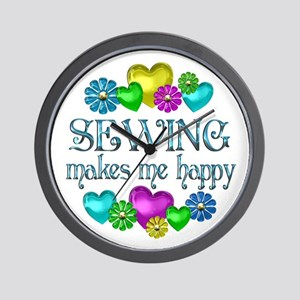 Sewing Happiness Wall Clock