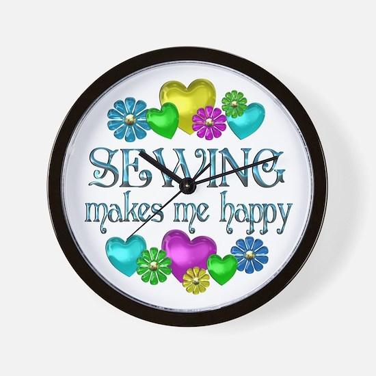 Sewing Happiness Wall Clock