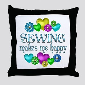 Sewing Happiness Throw Pillow