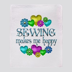 Sewing Happiness Throw Blanket