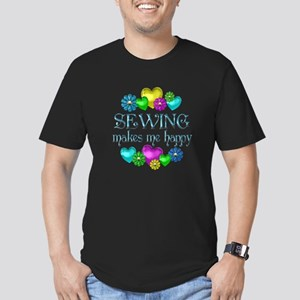 Sewing Happiness Men's Fitted T-Shirt (dark)