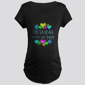 Sewing Happiness Maternity Dark T-Shirt