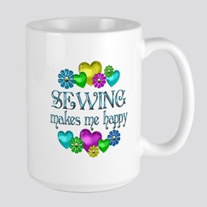 Sewing Happiness Large Mug