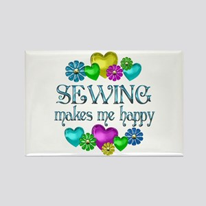 Sewing Happiness Rectangle Magnet