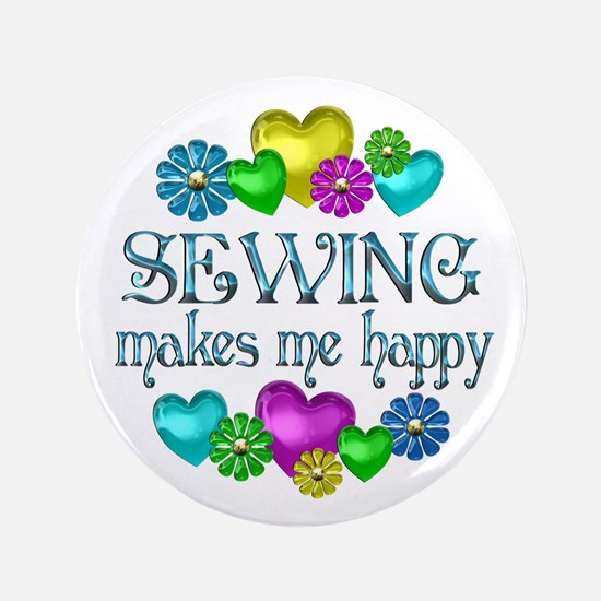 "Sewing Happiness 3.5"" Button (100 pack)"