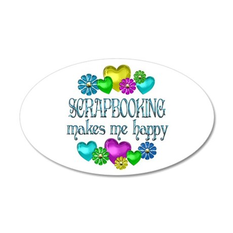 Scrapbooking 38.5 x 24.5 Oval Wall Peel