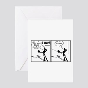 Actor Requesting A Line Greeting Card