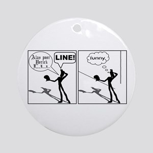 Actor Requesting A Line Ornament (Round)