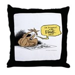 bob on the edge Throw Pillow