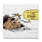 bob on the edge Tile Coaster