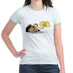 bob on the edge Jr. Ringer T-Shirt