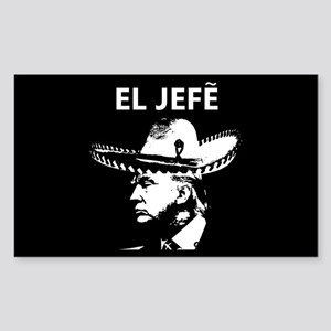 Trump El Jefe Sticker (rectangle)