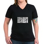 Actor Requesting A Line Women's V-Neck Dark T-Shir