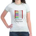 My First Computer Jr. Ringer T-Shirt