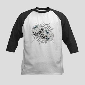Spider Web Skulls Kids Baseball Jersey
