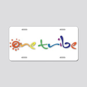 One Tribe Aluminum License Plate
