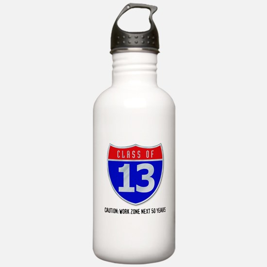 Class of 13 Road Sign Water Bottle