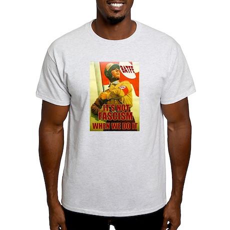 Not Fascism Ash Grey T-Shirt