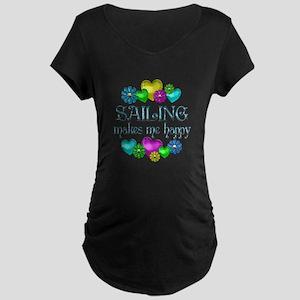 Sailing Happiness Maternity Dark T-Shirt