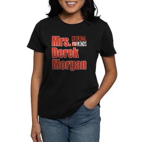 Mrs. Derek Morgan Criminal Minds Women's Dark T-Sh