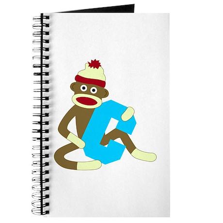 Sock Monkey Monogram Boy C Journal