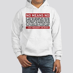 No Means No Hooded Sweatshirt