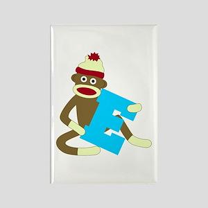 Sock Monkey Monogram Boy E Rectangle Magnet