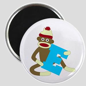 Sock Monkey Monogram Boy E Magnet