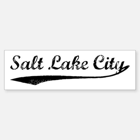 Vintage Salt Lake City Bumper Bumper Bumper Sticker