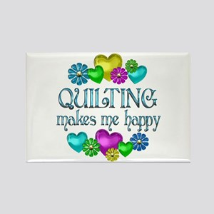 Quilting Happiness Rectangle Magnet