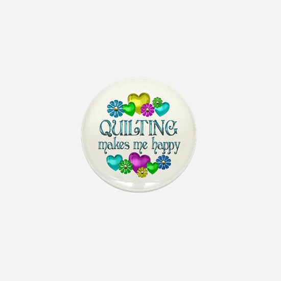 Quilting Happiness Mini Button (10 pack)