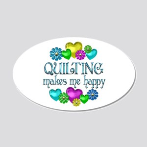 Quilting Happiness 22x14 Oval Wall Peel
