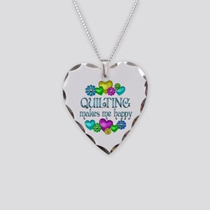Quilting Happiness Necklace Heart Charm