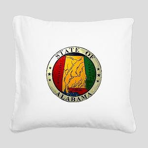 Alabama Seal Square Canvas Pillow
