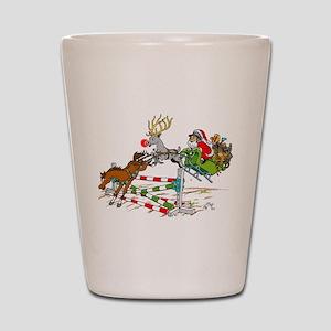 Santa Jumping Jump Shot Glass