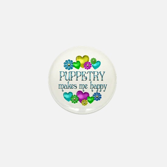 Puppetry Happiness Mini Button