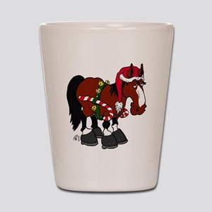 Don't Ask Christmas Horse Shot Glass