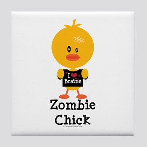 Zombie Chick Tile Coaster