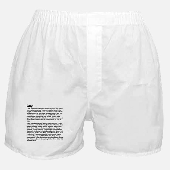 Gay Definition Boxer Shorts