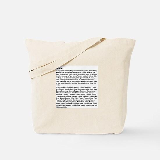 Gay Definition Tote Bag