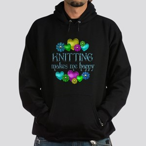 Knitting Happiness Hoodie (dark)