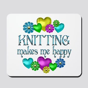 Knitting Happiness Mousepad