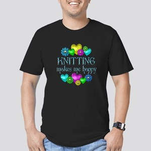 Knitting Happiness Men's Fitted T-Shirt (dark)