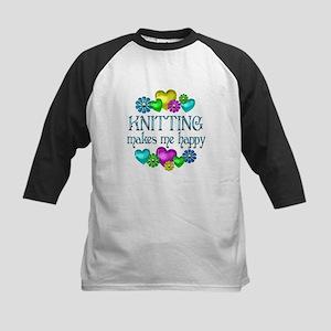 Knitting Happiness Kids Baseball Jersey