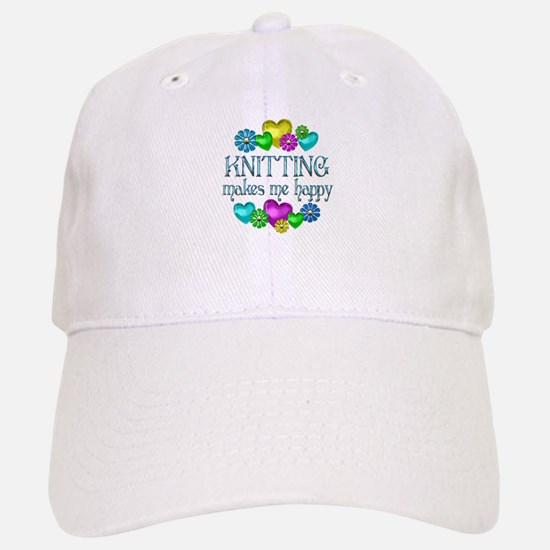 Knitting Happiness Baseball Baseball Cap