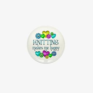 Knitting Happiness Mini Button