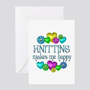 Knitting Happiness Greeting Card